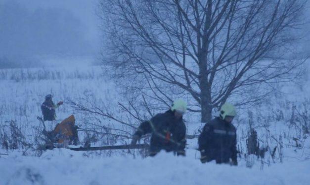 Itt az első videó a lezuhant orosz repülőgépről