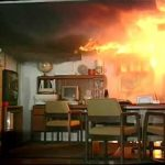 Kigyulladt egy iroda a Miniszterelnökség épületében (videó)