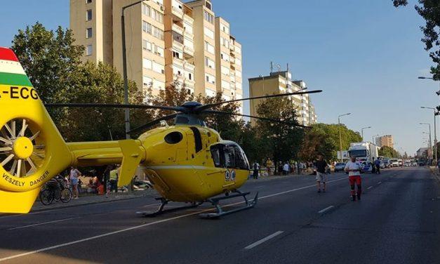 Megégett az idős férfi, mentőhelikopter érkezett – Frissítve