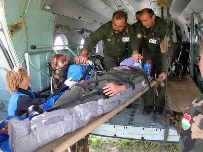 Honvédségi helikopterrel mentették a sérült túrázót
