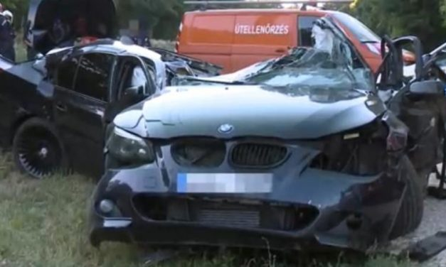 180-nal csapódott a villanyoszlopba a fiatal zirci sofőr autójával a 82-esen: a kocsi teljesen szétroncsolódott
