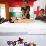 Flippergépen tanulták a gyerekek az újraélesztést Csornán