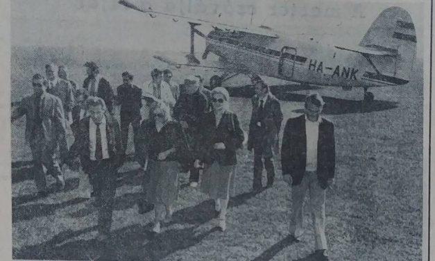Repülővel Győr közeléből Budapestre 40 perc alatt jutottak el az utasok 1982-ben – retro képek