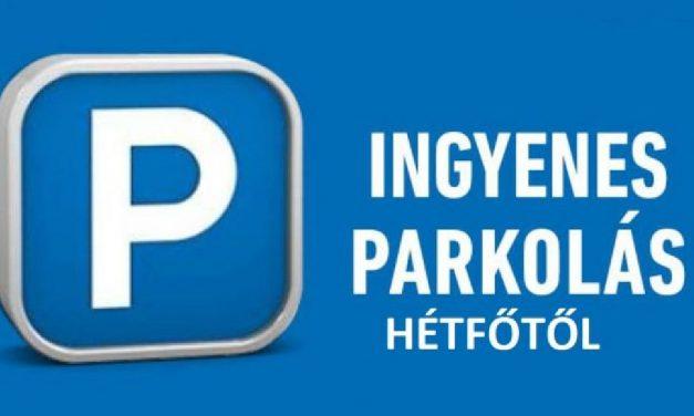 Hétfőtől ingyenes lesz a közterületi parkolás egész Magyarországon