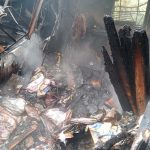 Helyszíni fotók: tűz pusztított Komáromban