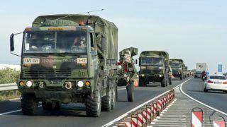 Többfelé katonai konvojra kell számítani csütörtök-pénteken